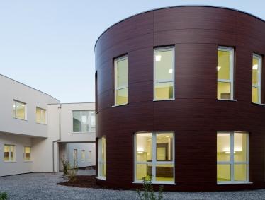 Photo du centre hospitalier de Sélestat (vue extérieure)