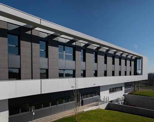 Vue extérieure du Nouvel Hôpital d'Obernai (NHO)